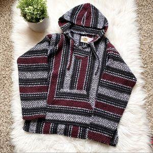 Earth Ragz Baja Style Knit Pullover Sweater Medium